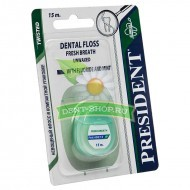 President  Dental Floss Fresh Breath Unwaxed свежее дыхание, 15 м